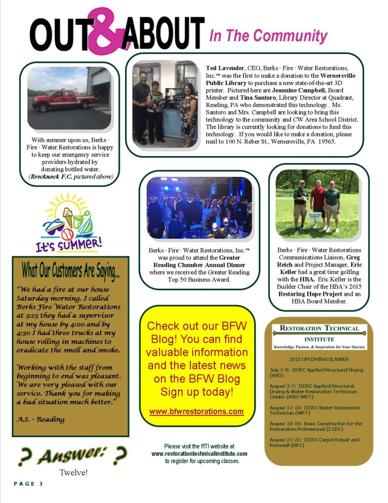 OUT & ABOUT In The Community