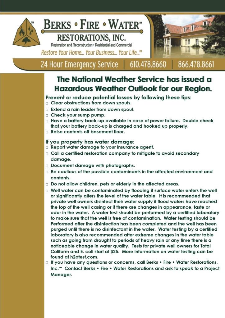 Hazardous Weather Outlook Alert